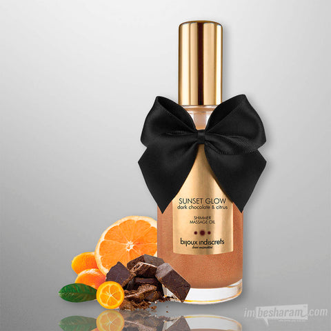 Sunset Glow - Dark Chocolate Shimmer Oil 3.4oz.