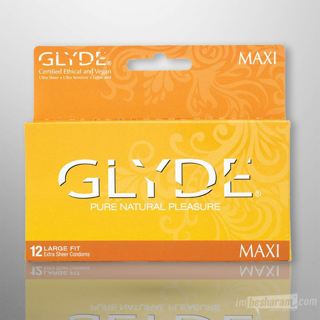 Glyde Maxi Extra Sheer Condoms 12pk