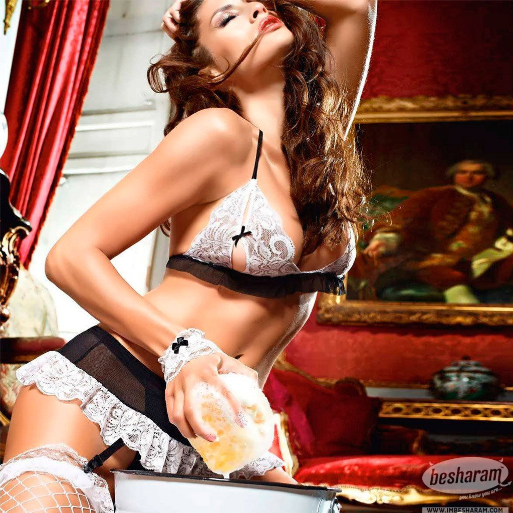 Baci Dreams Maid Bra Panties Garter Skirt & Cuffs