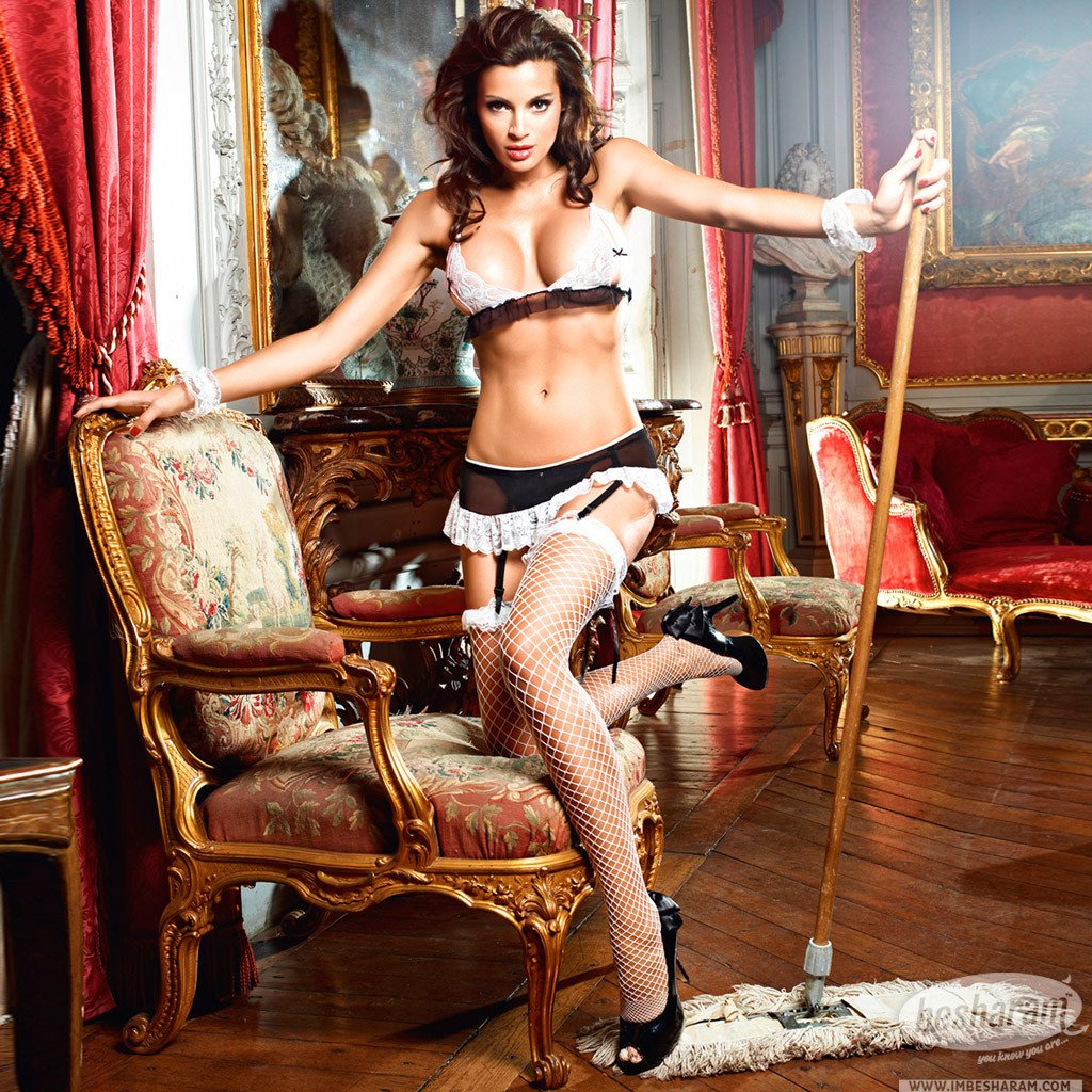 Baci Dreams Maid Bra Panties Garter Skirt & Cuffs main image 2