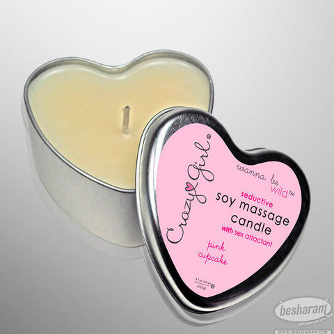 Crazy Girl Massage Heart Candle