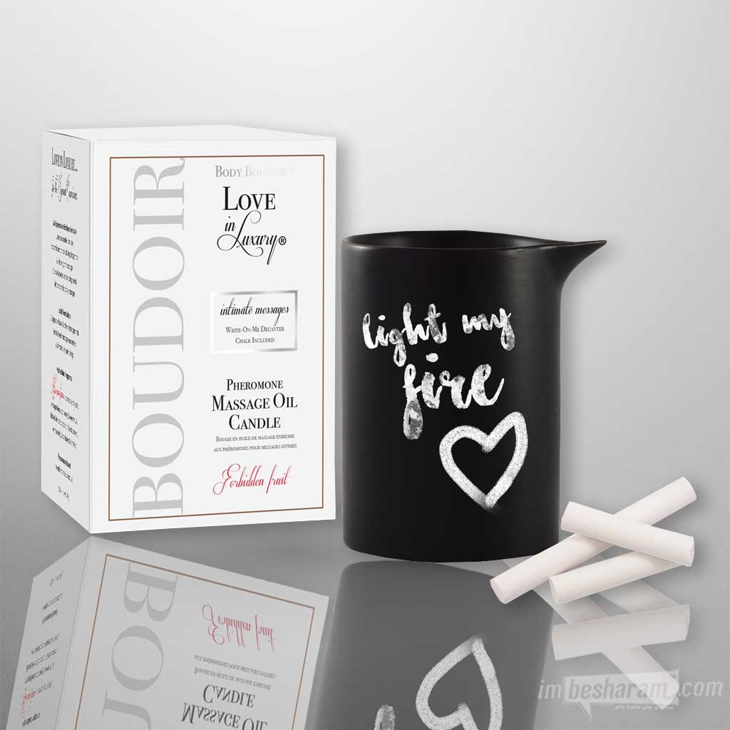 Love In Luxury Message Candle-Forbidden Fruit 5oz
