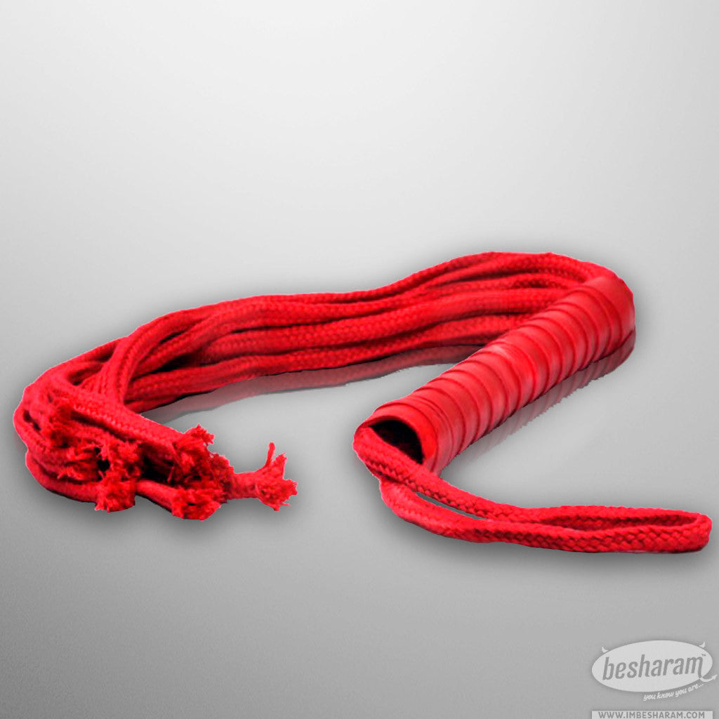 Sex & Mischief Red Rope Flogger main image 2