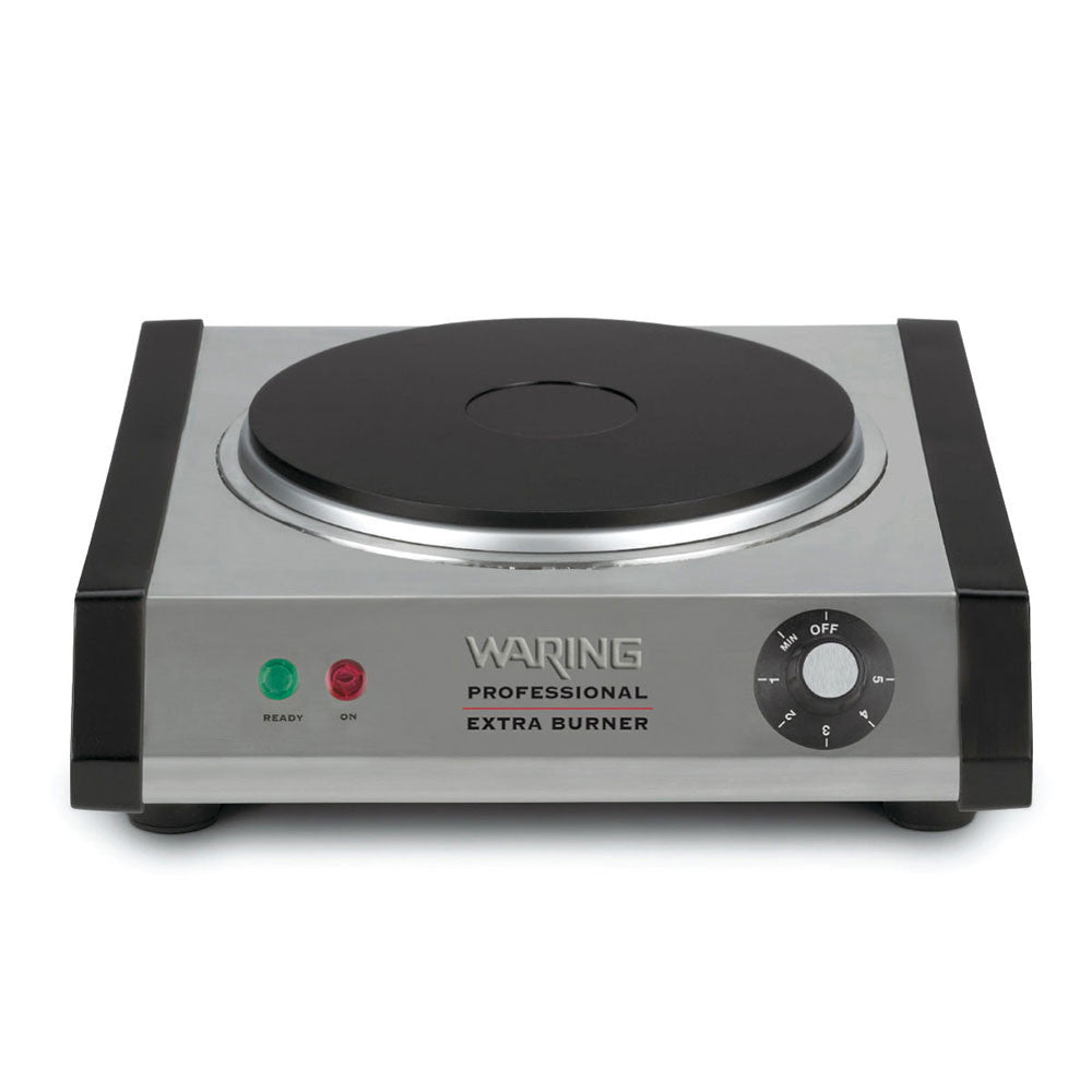 Waring WEB300 Single Commercial Burner w/ Heavy Duty Cast Iron Plate & Adjustable Thermostat - demodsl