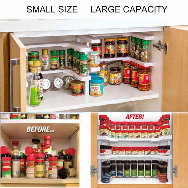 Edenware Spice Rack And Stackable Shelf Extraordinary Set Of 60 Adjustable Spice Rack Organizers Goods Grabber