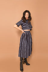 "Doris ""Indigo"" Pleated Skirt"