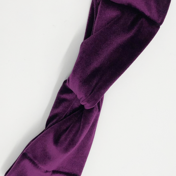 Royal Plum Velvet Headband