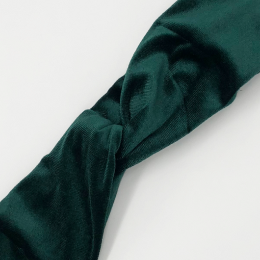 Hunter Green Velvet Headband