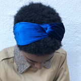Ultra Blue Velvet Headband