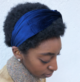 The Navy Velvet Headband