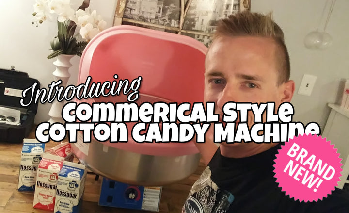 Introducing Our New Commerical Style Cotton Candy Machine