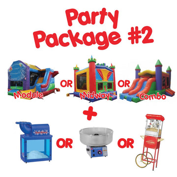 party ideas bouncy castle with food stands