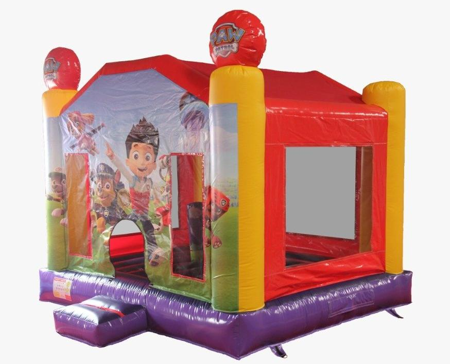 paw patrol themed bouncy castle