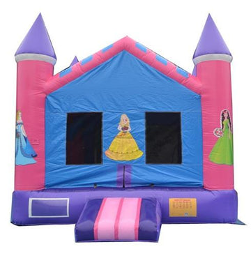 princess themed bouncy castles for girls birthday party
