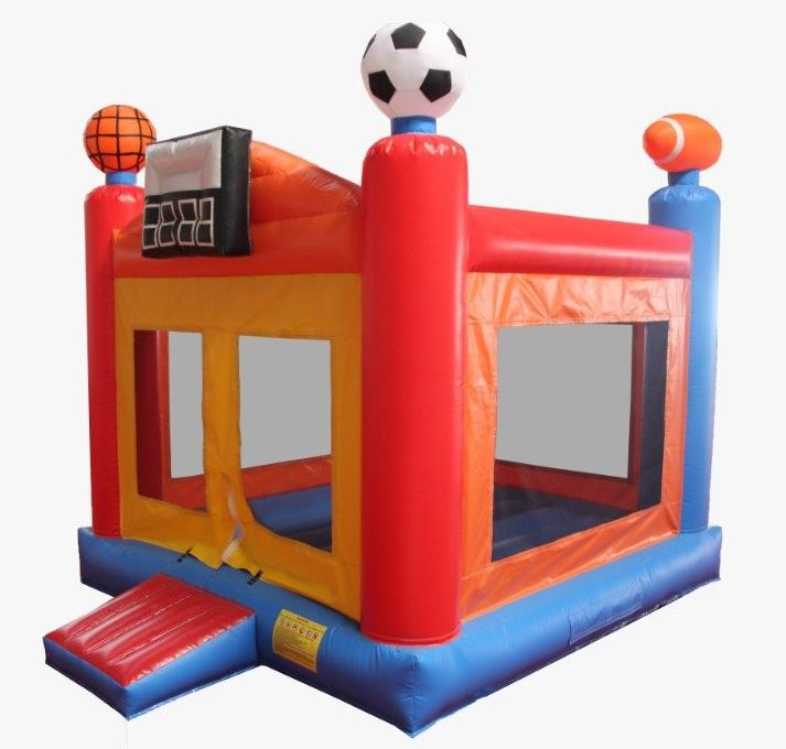 sports themed bouncer bouncy castle for boys birthday party