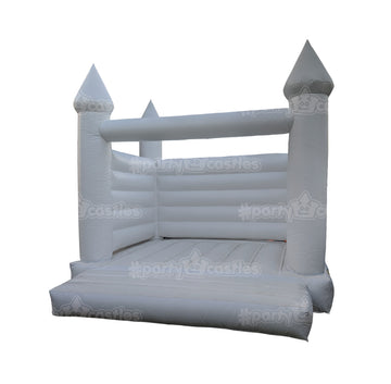 the white wedding bouncy castle