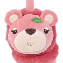 "Momo Grow ""Marlee"" Bear Face Earmuffs (Fits Toddler to Adult) - Hot Pink"