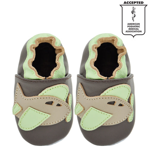 Momo Baby Boys Soft Sole Leather Shoes Caterpillar