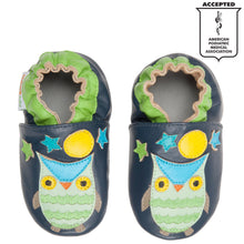 Momo Baby Boys Soft Sole Leather Shoes - Night Owl