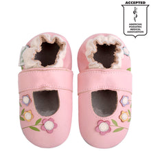 Momo Baby Girls Soft Sole Leather Crib Sandal Shoes - Lilies