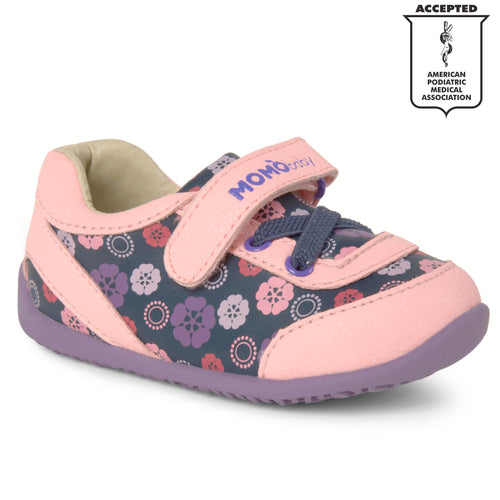 Momo Baby Girls First Walker Toddler Heather Leather Sneaker Shoes