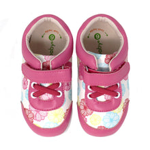 Momo Baby Girls' Sneaker Shoes - Abby Abstract Floral Pink (First Walker & Toddler)