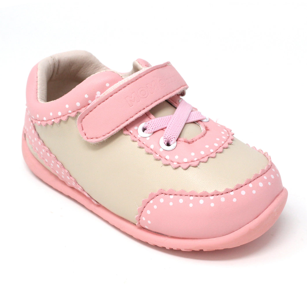 Momo Baby Girls' Sneaker Shoes - Mia Beige (First Walker & Toddler)