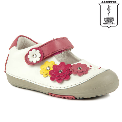 d3a1a78aa12 Momo Baby Girls First Walker Toddler Flower Power Mary Jane Leather Shoes  ...