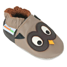 Momo Baby Boys Soft Sole Leather Crib Bootie Shoes - Owl