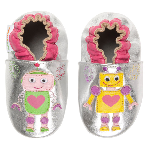 Momo Baby Girls Soft Sole Leather Crib Bootie Shoes - Girly Gears