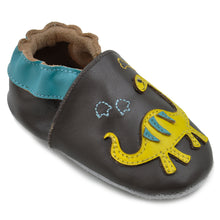 Momo Baby Boys Soft Sole Leather Shoes - Dinos and Fossils