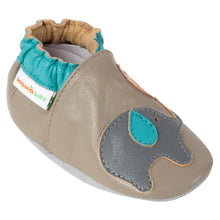 Momo Baby Boys Soft Sole Leather Crib Bootie Shoes - Playful Elephant