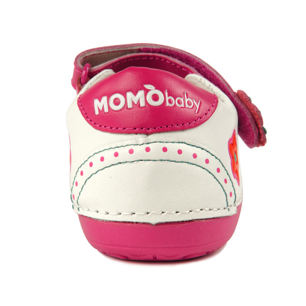 Momo Baby Girls Mary Jane Leather Shoes - Oxfords White (First Walker & Toddler)