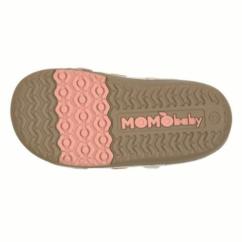 Momo Baby Girls Sandal Shoes - Metallic Silver (First Walker & Toddler)