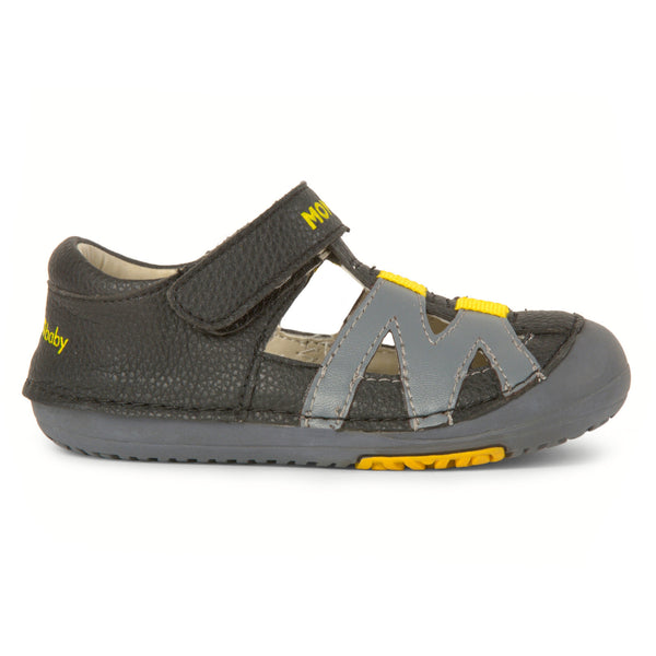 Momo Baby Boys Sandal Shoes - Mason Black/Gray (First Walker & Toddler)