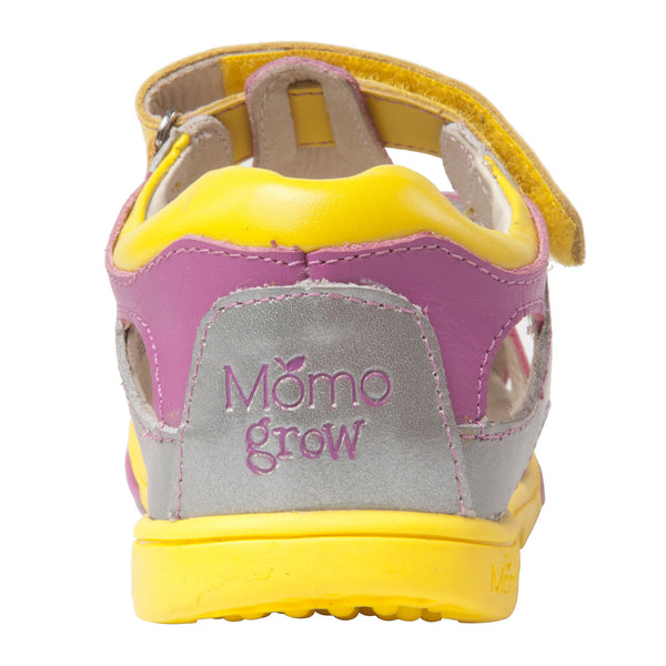 Momo Grow Girls Bow Leather Sandal Shoes (Toddler & Little Girl)