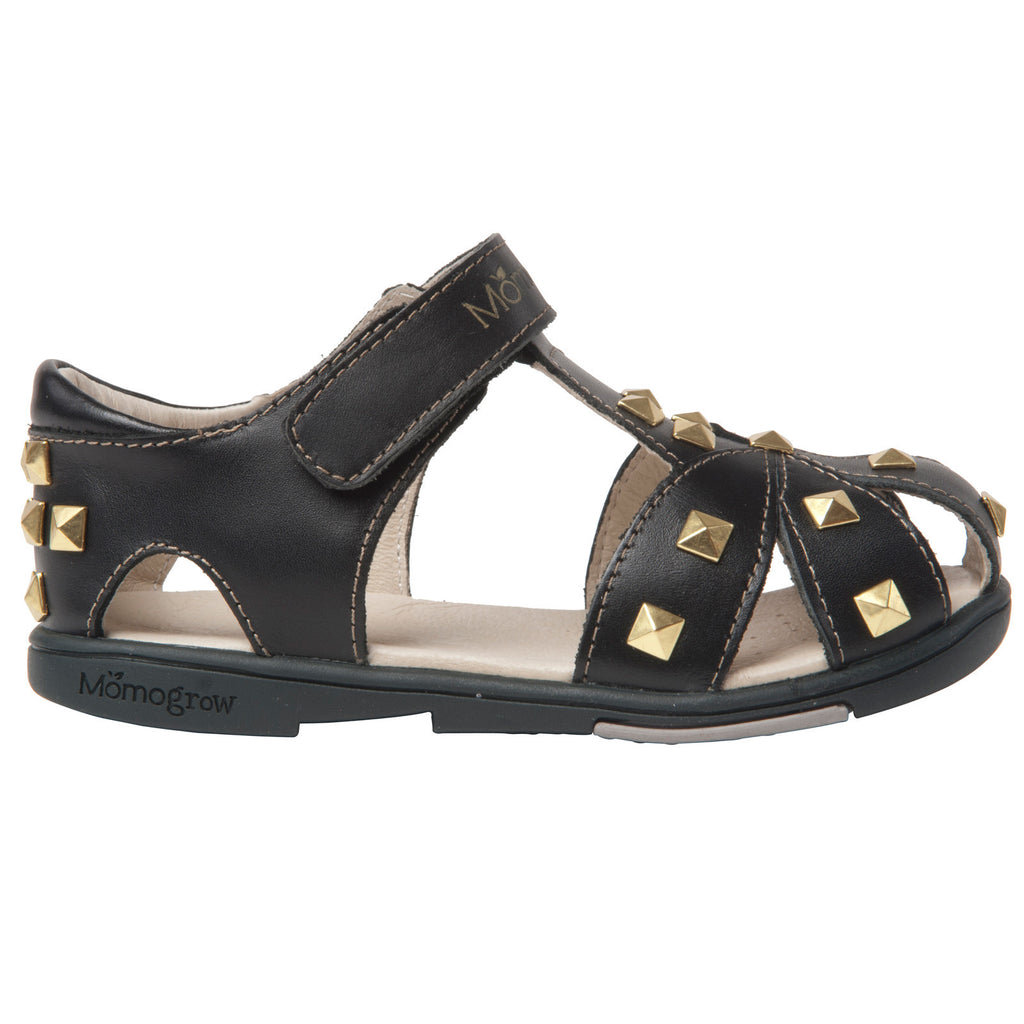 e1a27d6fbba0 ... Momo Grow Girls Studded Leather Sandal Shoes (Toddler   Little Girl) ...