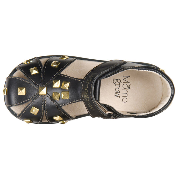 Momo Grow Girls Studded Leather Sandal Shoes (Toddler & Little Girl)