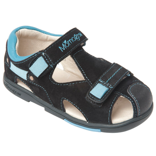 Momo Grow Boys Double-Strap Leather Sandal Shoes (Toddler & Little Boy)