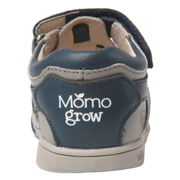 Momo Grow Basket-Weave Leather Sandal Shoes (Toddler & Little Boy)