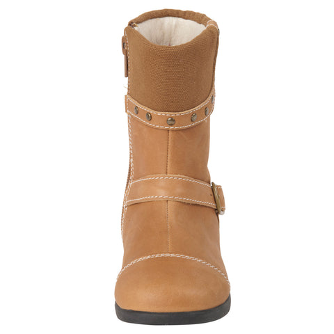 "Momo Grow Girls ""Bailey"" Leather Boots (Toddler & Little Girl)"