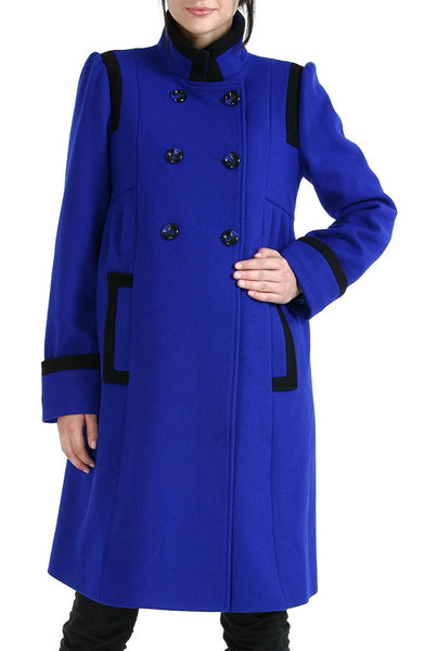 "Momo Maternity ""Madison"" Double Breasted Wool Blend Coat"