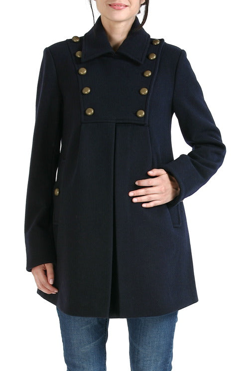 Momo Maternity Women's 'Stella' Military Style Wool Blend Coat