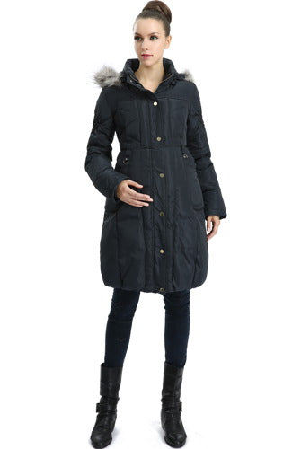 "Momo Maternity ""Minnie"" Hooded Down Puffer Coat"