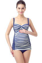 Momo Maternity UPF 50+ Swim Tankini & Bottom 2-Piece Bathing Suit Set