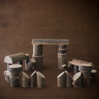 Natural Branch-wood Blocks