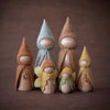 Sweet Elm Australian wooden fairies with gnomes