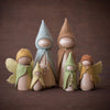 Sweet Elm Australian wooden fairy parents with gnomes