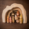 Gluckskafer grotto cave with Sweet Elm wooden doll gnomes