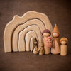 Gluckskafer grotto cave with Sweet Elm Outback Wee Folk wooden dolls
